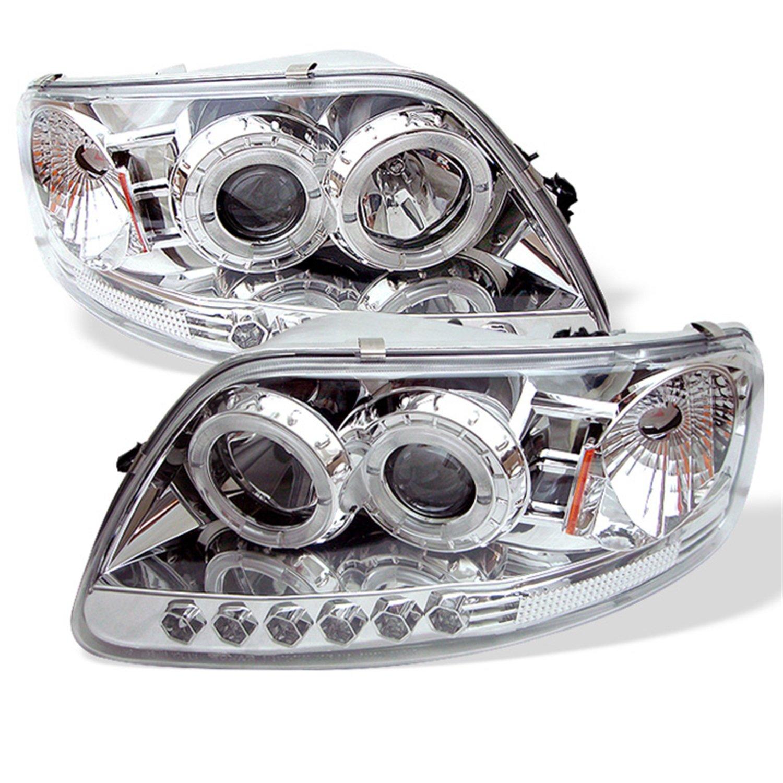Amazon com spyder auto ford f150 expedition chrome halogen led projector headlight automotive