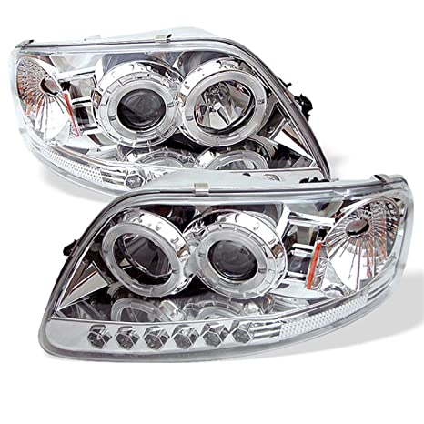 Spyder Auto Ford F150/Expedition Chrome Halogen LED Projector Headlight