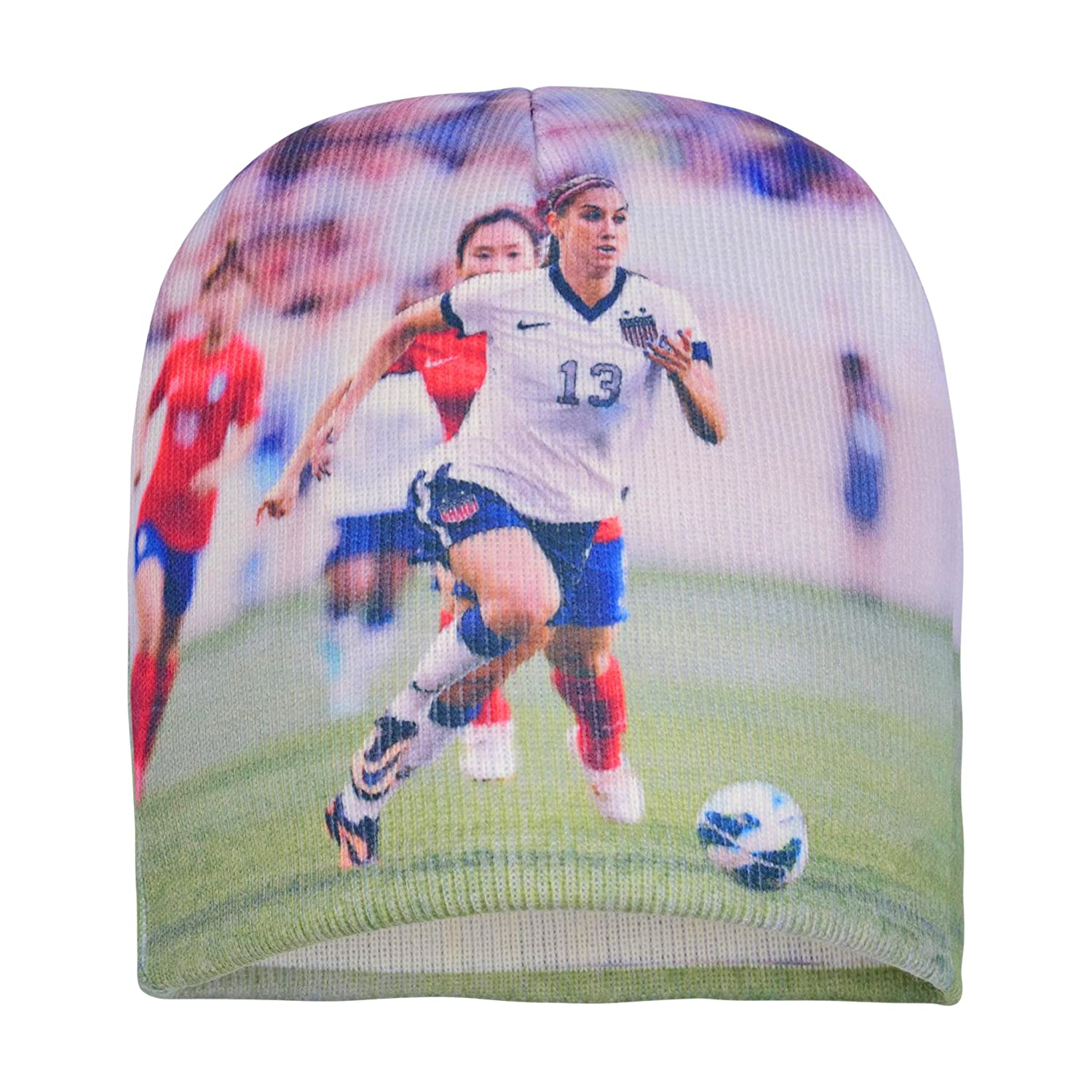 2fbf0b9803a Amazon.com   Forever Fanatics Alex Morgan  13 Soccer Beanie ✓ Digital  Graphic Printing ✓ Pefect Soccer Fan Gift (One Size Fits All