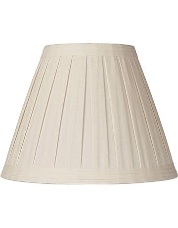 07fb7492931 Creme Linen Box Pleat Lamp Shade 7x14x11 (Spider) - Springcrest
