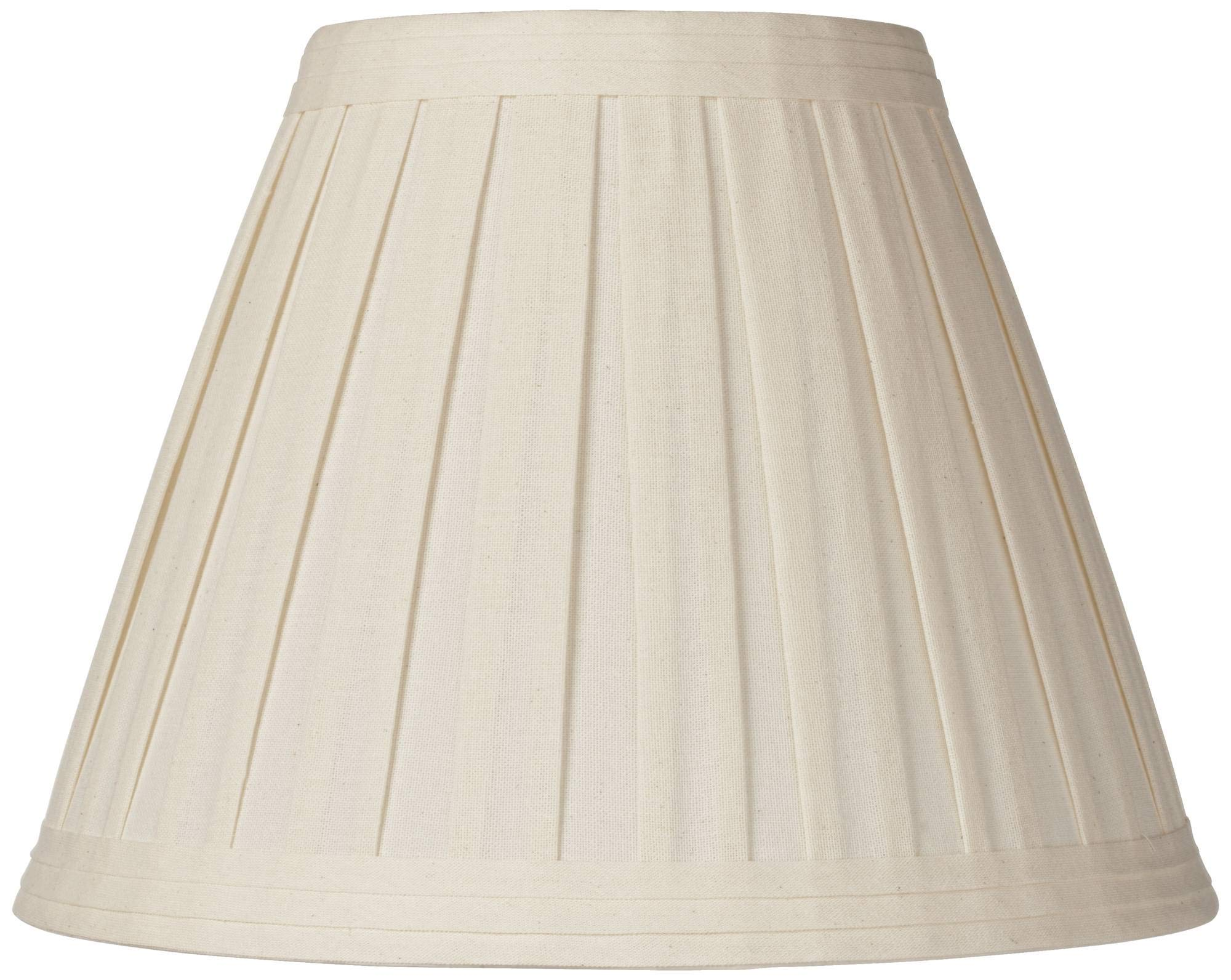 Creme Linen Box Pleat Lamp Shade 7x14x11 (Spider) - Springcrest by Springcrest