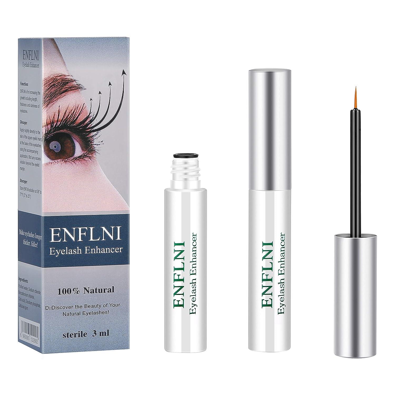 5ff21e732cf Amazon.com: Eyelash Enhancer Eye Lash Rapid Growth Serum Liquid 100%  Original 3ml by ENFLNI: Beauty