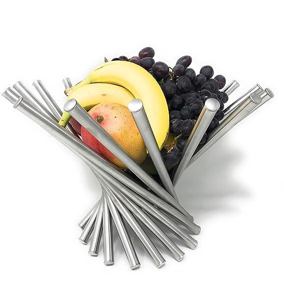 Amazon.com: Moderno cesta de fruta, acero inoxidable ...