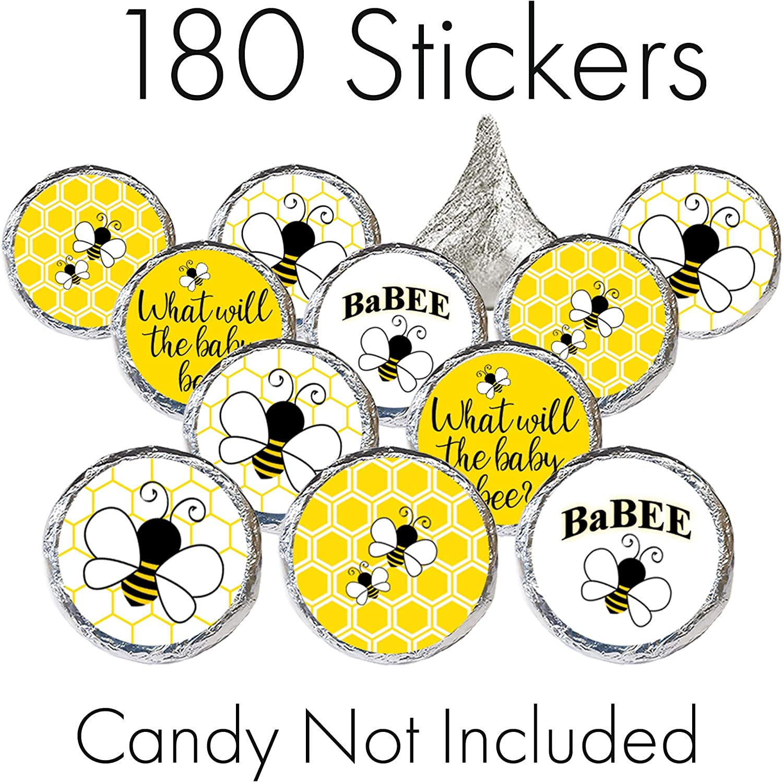Baby Shower Favor Sticker Honey Jar Stickers #677-1-WH Shower labels What Will I Bee? Gender Reveal Sticker