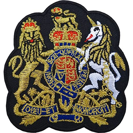 United Kingdom POLICE Uk Shelid Embroidered Iron On Sew on Patch Badge Dress