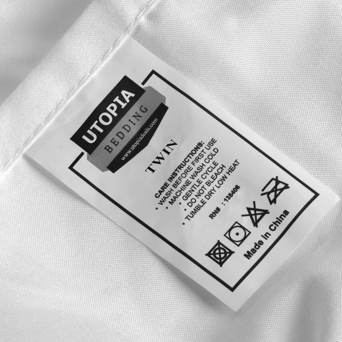 Utopia Bedding Fitted Sheet (Pack of 6, Twin, White) Deep Pocket Brushed Microfiber, Breathable, Soft and Comfortable - Wrinkle, Fade, Stain and Abrasion Resistant - Hotel Quality - Durable