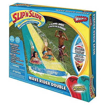 Wham-O Slip 64120 N Slide Wave Rider Double With 2 Slide Boogies: Toys & Games