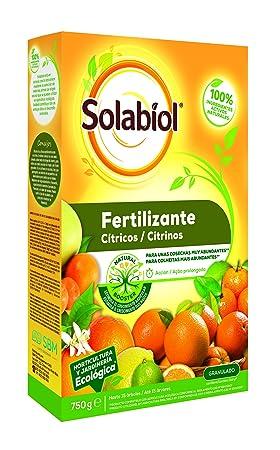 Solabiol Fertilizante cítricos con Ingredientes 100% organicos y estimulador radicular Natural Booster, 750g: Amazon.es: Jardín