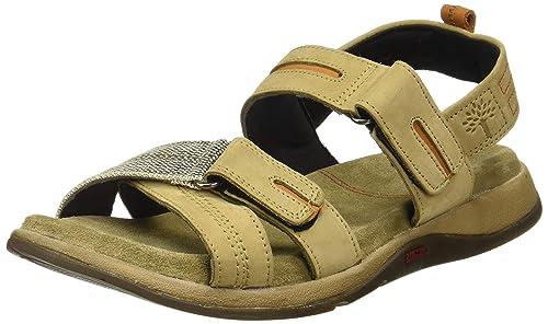 777a2e560fe Woodland Men s Khaki Leather Sandals-6 UK India (40 EU) (OGD 2691117 ...