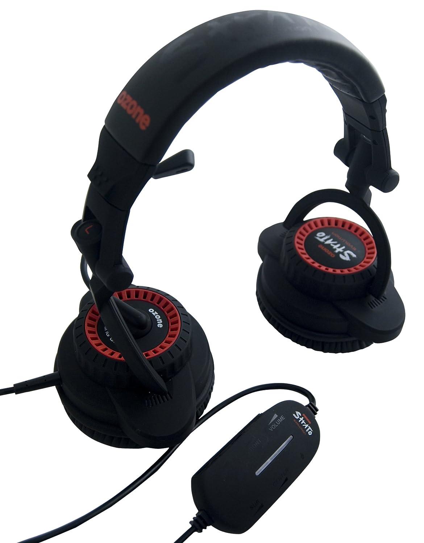 Ozone OZONETRATOVO - Auriculares de diadema cerrados USB (con micrófono), negro: Amazon.es: Electrónica