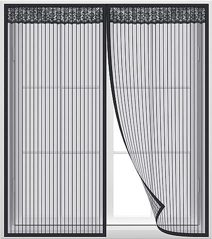 Blanc Rideau/magn/étique/pour/Portes Acc/ès Facile Adsorption magn/étique Pliable AMCER Moustiquaire Magn/étique 70x180cm for Le Salon//Porte Patio