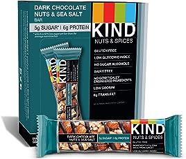 KIND. Bars, Dark Chocolate Nuts & Sea Salt, Gluten Free, 1.4 Ounce Bars, 12 Count