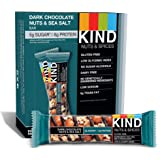 KIND  巧克力棒   黑巧克力坚果&海盐  不含谷蛋白  1.4盎司  12支装