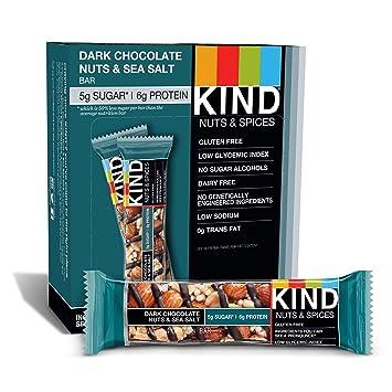 242d57628c40e4 Amazon.com : KIND Bars, Dark Free, Low Sugar, 1.4oz, 12 Count ...