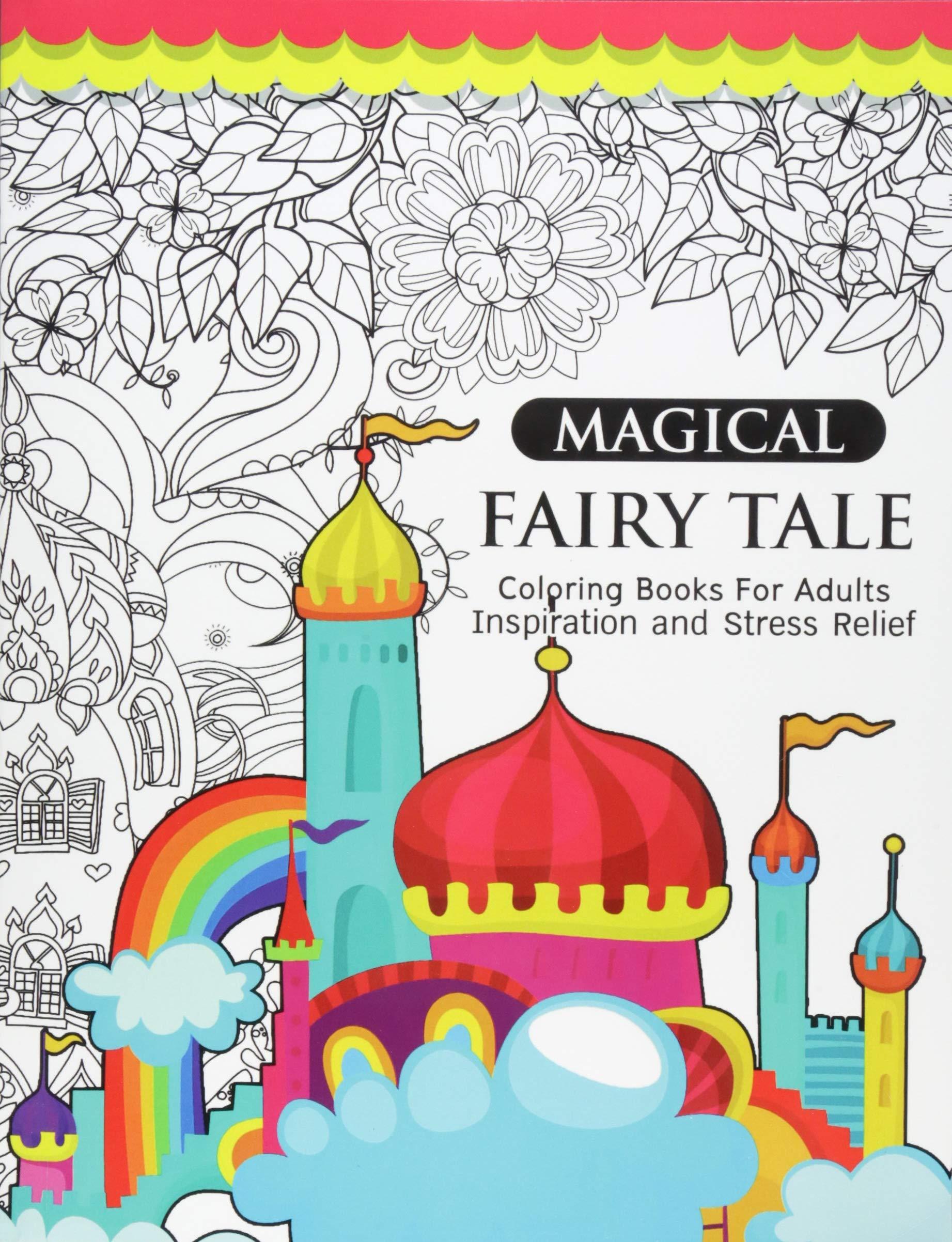 Amazon Com Magical Fairy Tale An Adult Fairy Coloring Book