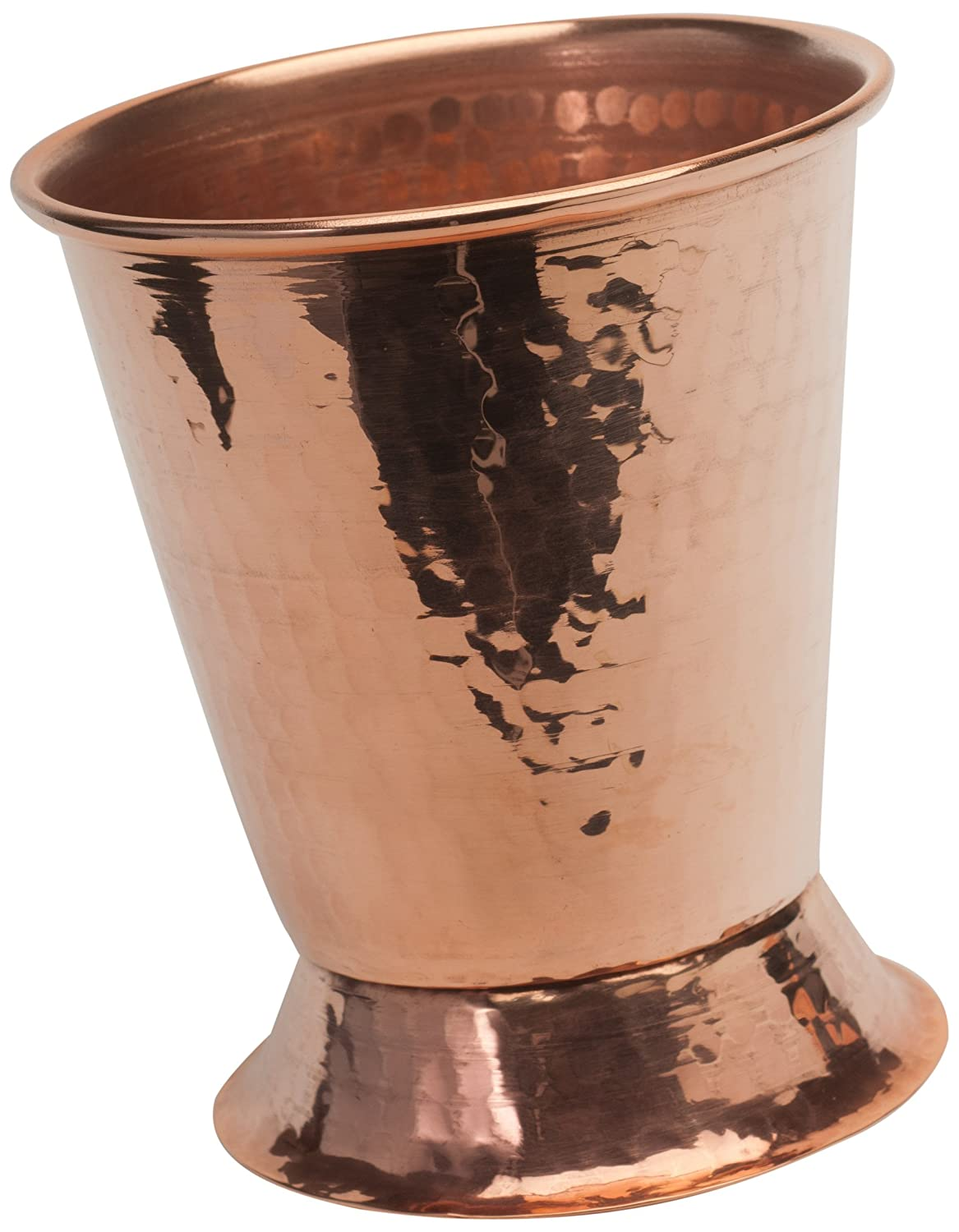 Sertodo Copper Derby Mint Julep Cup, 12 Fluid Ounce, Hammered Copper, Set of 2 CMJ-12-2