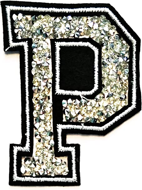 "Iron on Applique//Embroidered Patch SILVER 1/"" Alphabet//Letters your choice"