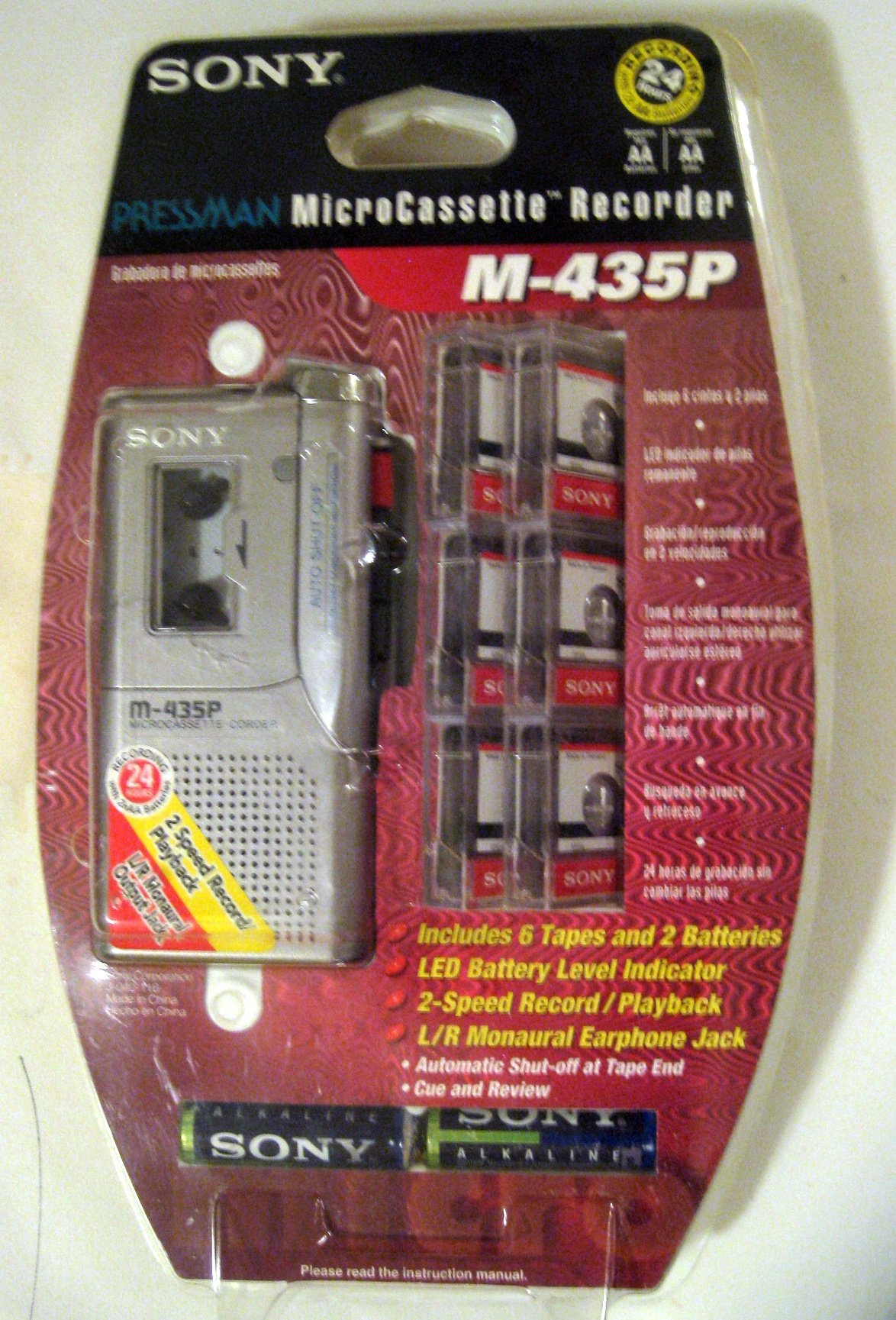 Sony M-435P Microcassette-Corder