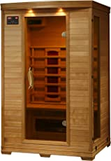 2 Person Hemlock Deluxe Infrared Sauna W 5 Ceramic Heaters