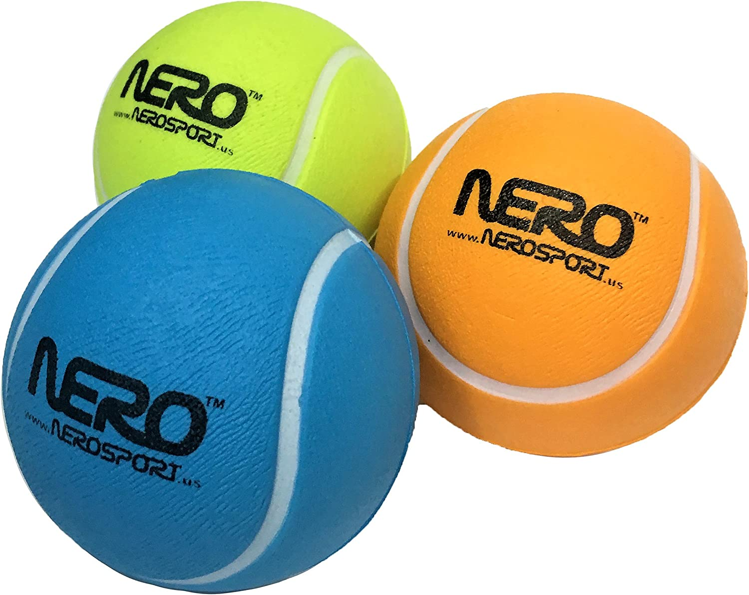 Nero NS-RS High Bounce Rubber Toy Tennis Ball 2.5 inch Great for The Streets Park Playground Back Yard Boys /& Girls Love it Agility Ball Bulk Price Birthdays