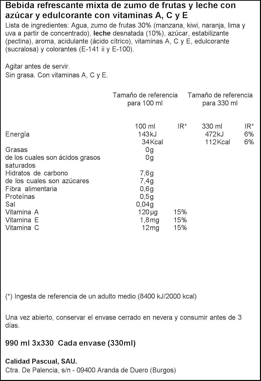 Bifrutas - Zumo de frutas pacífico y leche- 3 x 330 ml - [Pack de 6]: Amazon.es: Alimentación y bebidas