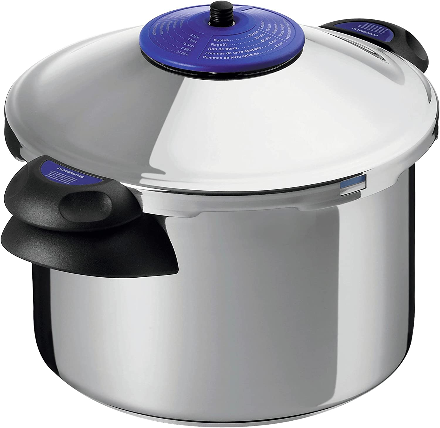 Kuhn Rikon Duromatic Supreme Stainless Steel Pressure Cooker with Side Grips, 6 Litre / 22 cm