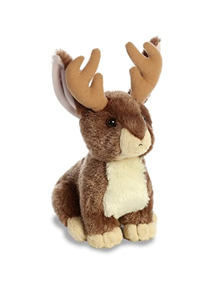 amazon com aurora world flopsie plush toy animal jackalope 12