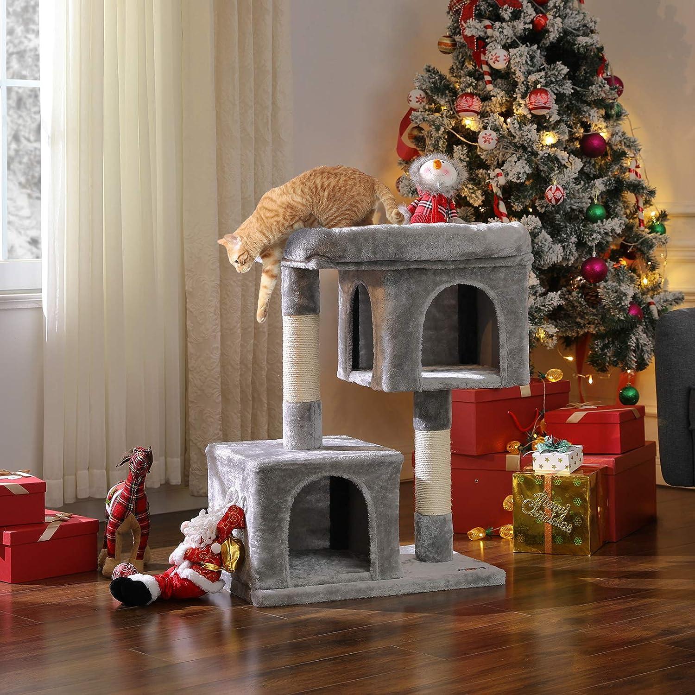 FEANDREA Árbol para Gatos, Rascador para Gatos, Columnas Recubiertas de Sisal para Gatos, Gris Claro PCT61W: Amazon.es: Productos para mascotas