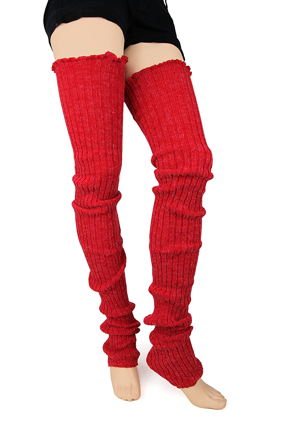 Foot Traffic - Cable Knit Legwarmers fx olive