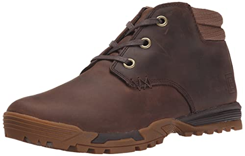 5.11 Tactical Pursuit Chukka Military Boots, Distressed Brown 124, 8 UK