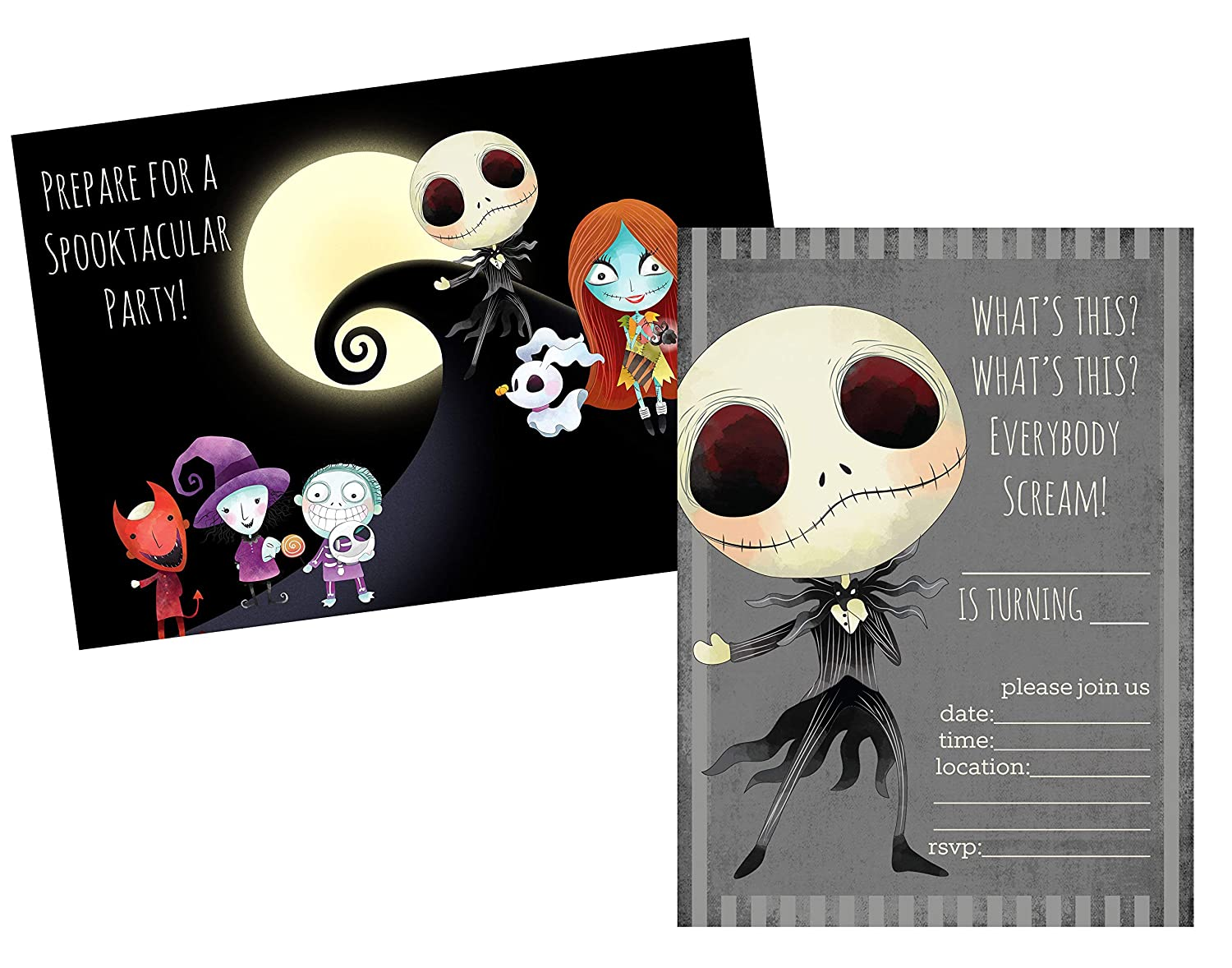Silly Goose Gifts Nightmare Before Christmas Birthday Party Baby Shower Invite Decor Supply Stickers Favor Party Invite
