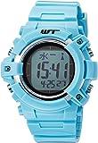 [アリアス]ALIAS 腕時計 電波ソーラー デジタル ウェーブトランス 5気圧防水 ウレタンベルト ライトブルー WT13003RCSOL10 メンズ