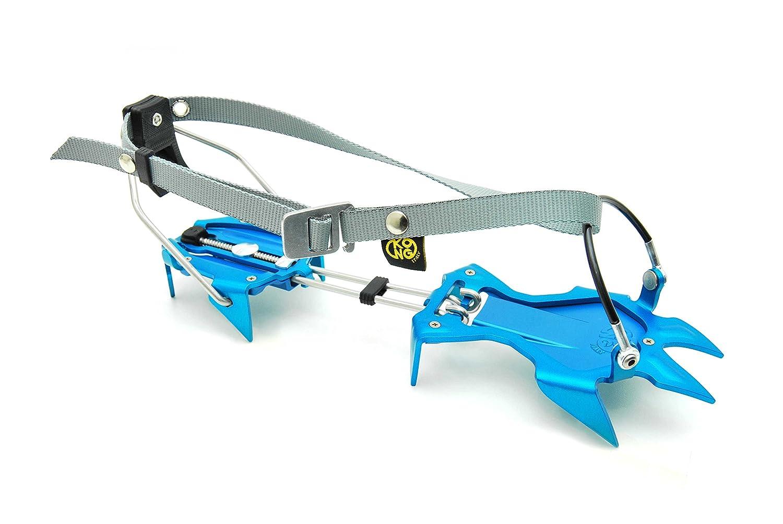 Light Blue//Grey KONG Crampons Aluminium semi-automatici Rutor 10/Bits