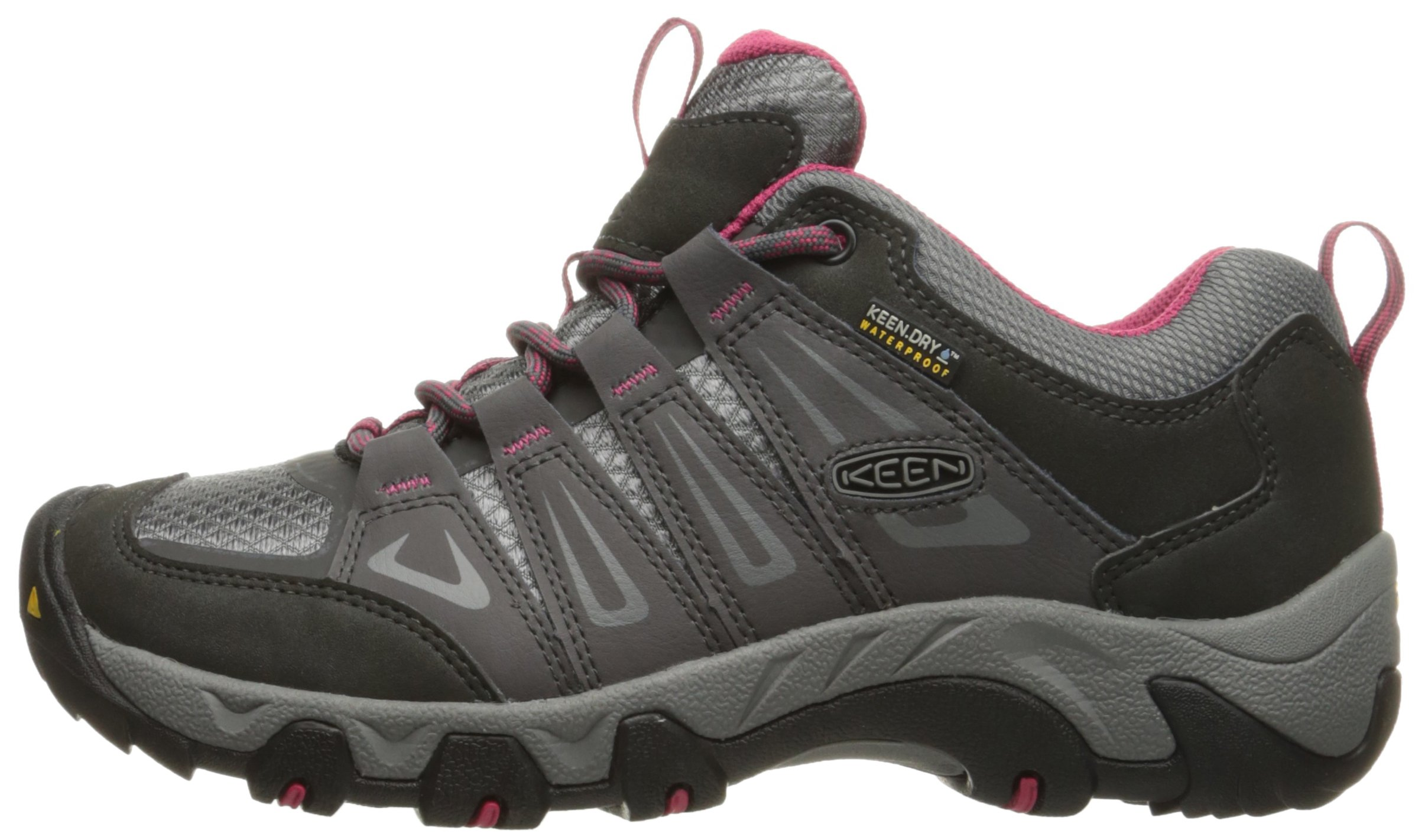 KEEN Women's Oakridge Waterproof Shoe, Magnet/Rose, 9 M US by KEEN (Image #5)