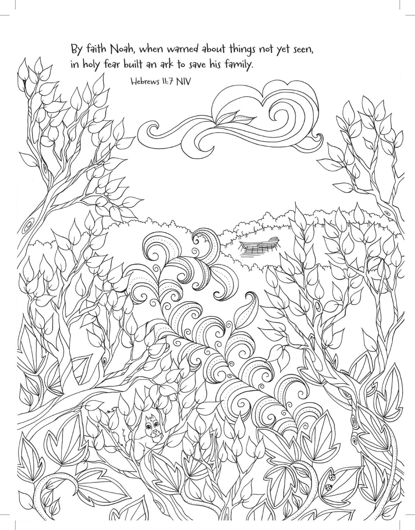 amazon com noah u0027s ark coloring the great flood majestic