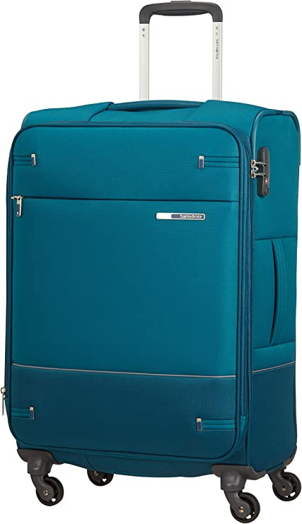 Imagen deSamsonite Base Boost - Spinner M Expandible Maleta, 66 cm, 67.5/73.5 L, Azul (Petrol Blue)