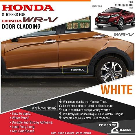 Honda Stickers For Honda Wrv Door Cladding White Reflective