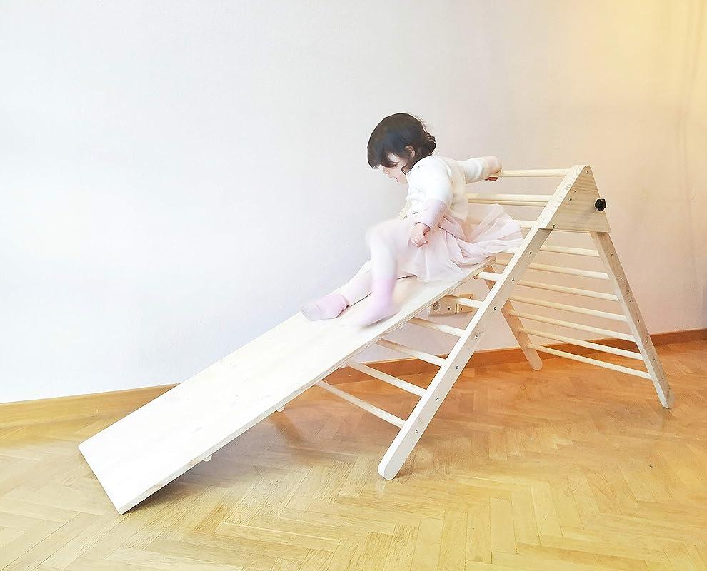 Triángulo de Pikler con rampa - Plegable - Pack completo - Mobiliario Pikler - Pikler triangle: Amazon.es: Handmade
