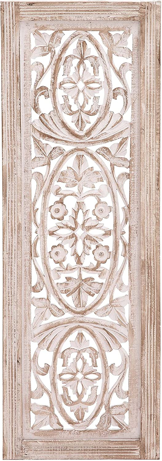 Deco 79 Wood Wall Panel, 12 by 36""