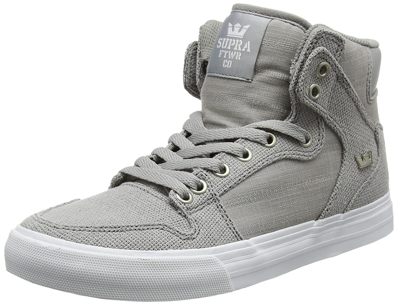 Supra Vaider Skate 10.5 Shoe B01N32ZIIS Medium / 10.5 Skate C/D US Women / 9 D(M) US Men Grey - White / Grey b3a812