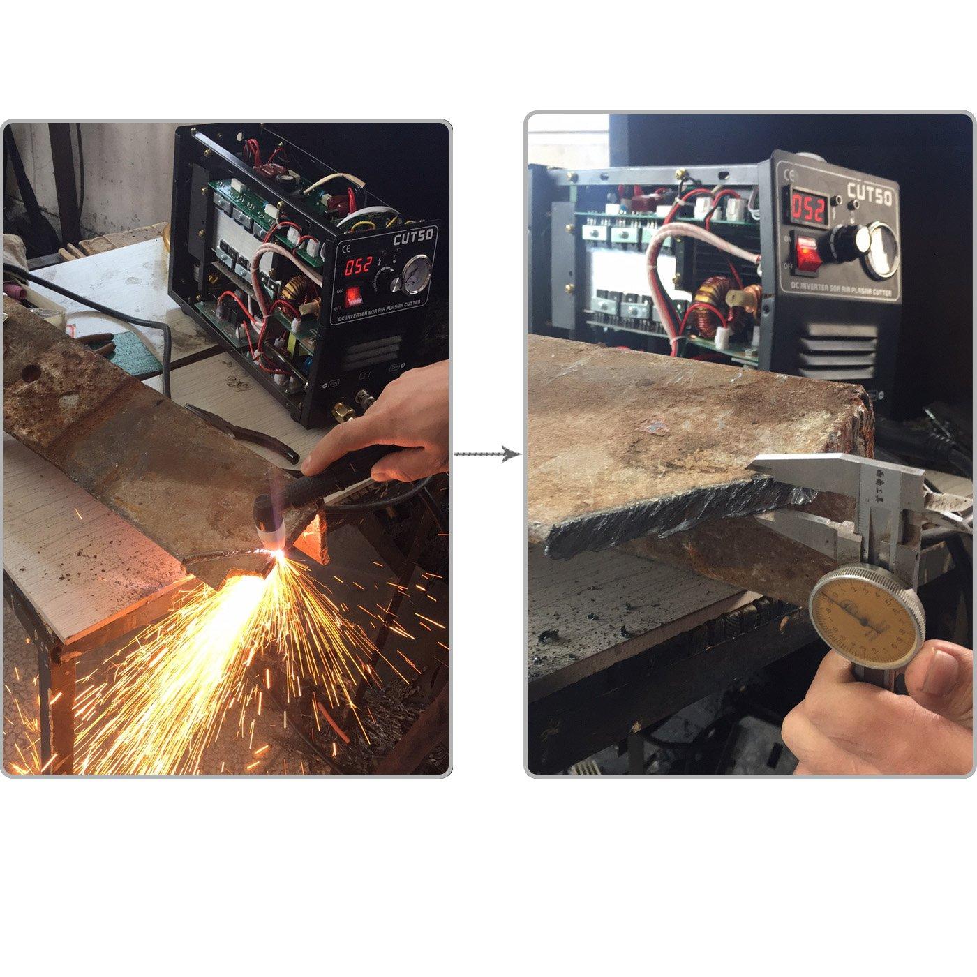 Cortador de plasma con inversor de aire y máquina soldadora de Tosense, corte de 50A, 220V, rendimiento de corte de 12 mm: Amazon.es: Bricolaje y ...