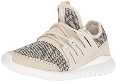 adidas Originals Boys Tubular Radial J Sneaker Clear Brown Collegiate  Silver
