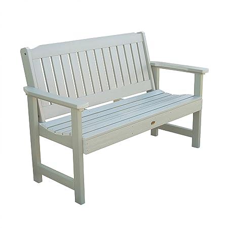 Highwood AD-BENW1-WAE Lehigh Garden Bench, 5 Feet, Whitewash