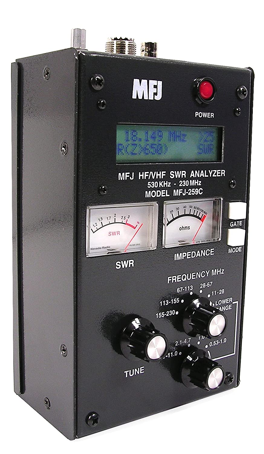 MFJ 259C Portable HF/VHF 530KHz to 230MHz continuous coverage SWR Analyzer