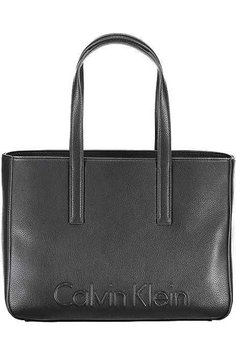 Calvin Klein Edge Medium Mujer Handbag Negro: Amazon.es: Zapatos y complementos