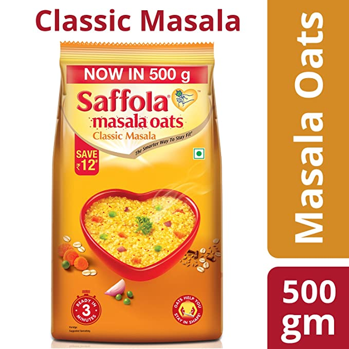 Saffola Masala Oats Classic Masala, 500gm