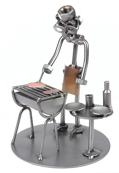 Diseño de hombre sentado GRILL barbacoa original regalo hecho a mano para el tiempo libre