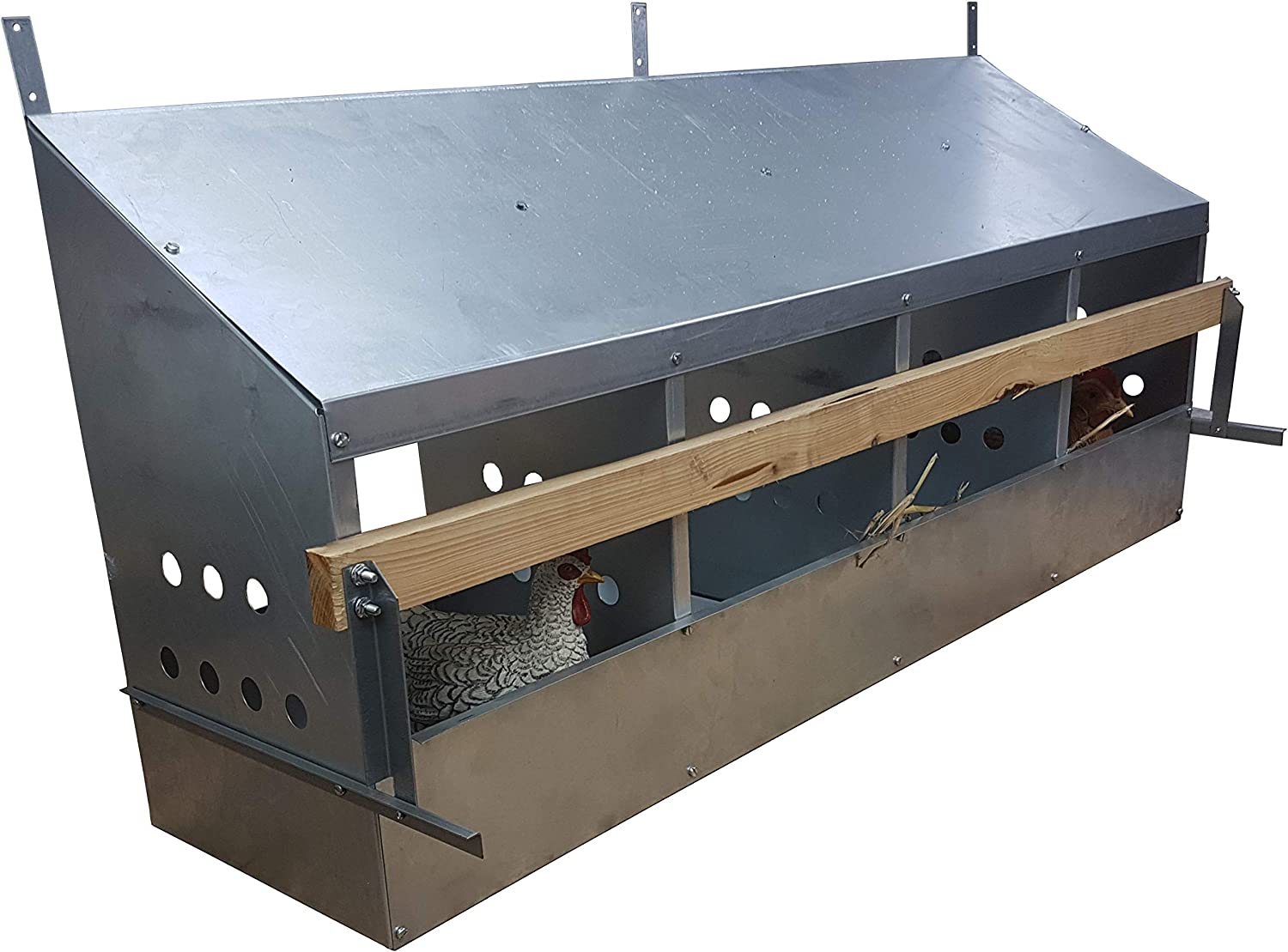 2 Hole Galvanized Metal Chicken Poultry Nesting Box