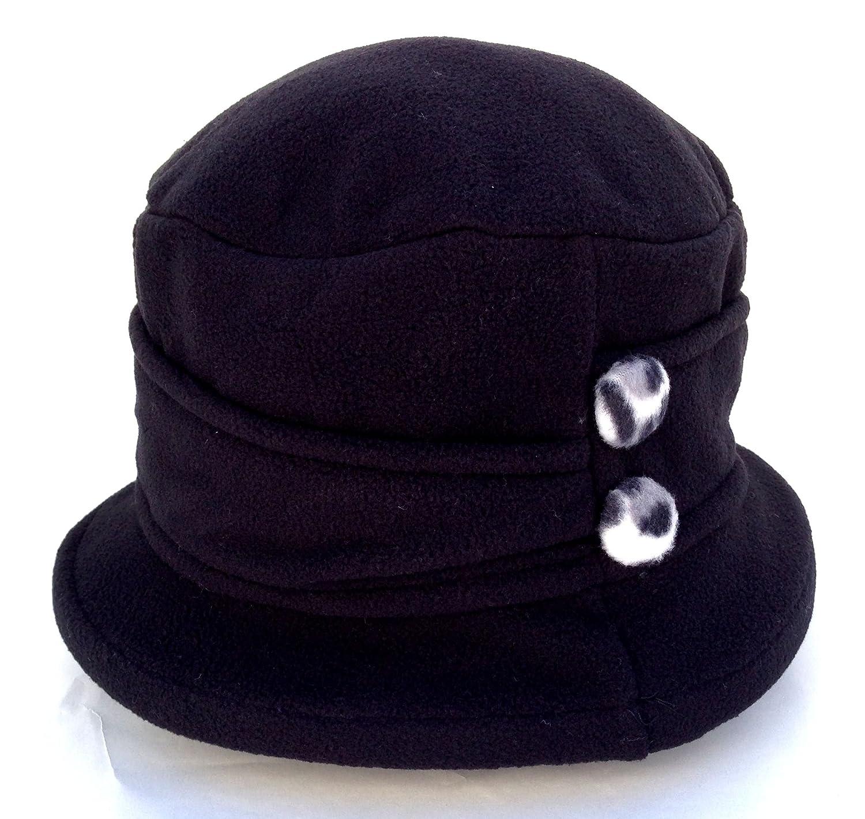 764bba7797e Amazon.com   Jeanne Simmons Women s Small Brim Polar Fleece Bucket Hat  (Black - Black   White Cheetah Button)   Beauty Products   Beauty