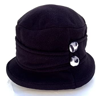 Image Unavailable. Image not available for. Color  Jeanne Simmons Women s  Small Brim Polar Fleece Bucket Hat (Black - Black   White Cheetah b0ad927f1ca3
